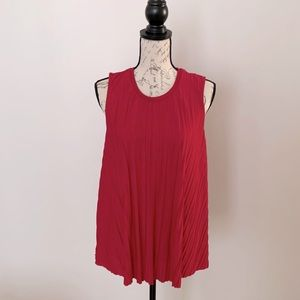 Bright Red Philosophy Ribbed Knit Swing Tank Sz L